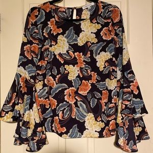 Rose & Olive bell sleeve blouse